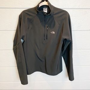 The North Face Half Zip Black Softshell Pullover